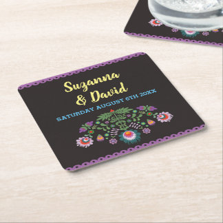 Fiesta Coasters Mexican  Drinks Wedding Party