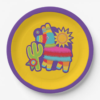Fiesta Donkey HHM Party Paper Plates