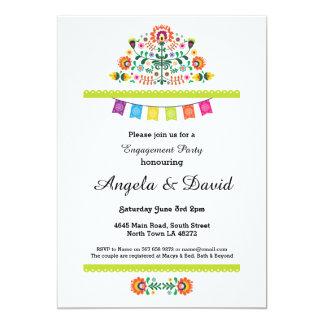 Fiesta Engagement Mexico Pattern Wedding Invites