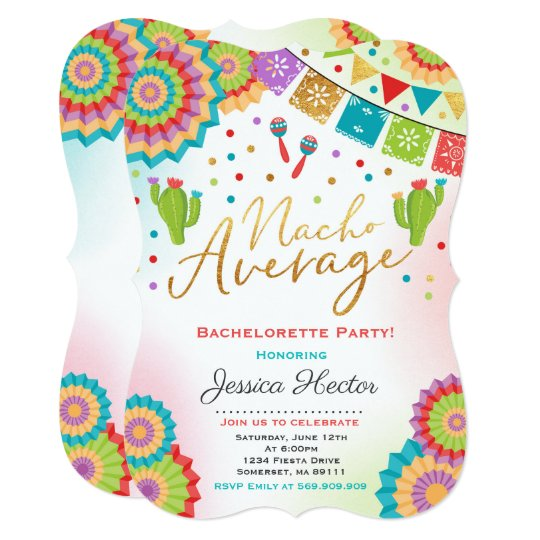 Fiesta Engagement Party Invite Nacho Average Party