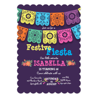 Fiesta Flags Invitation