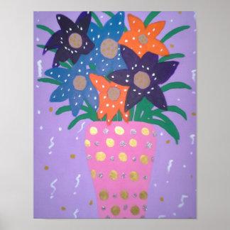 Fiesta Flowers Modern Still Life Art Print