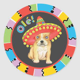 Fiesta Frenchie Classic Round Sticker