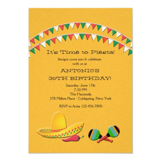 Fiesta Fun Invitation