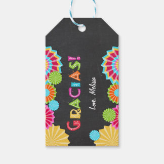 Fiesta Gift tags thank you favor Mexican Pack Of Gift Tags