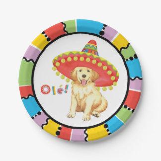 Fiesta Golden Retriever Paper Plate
