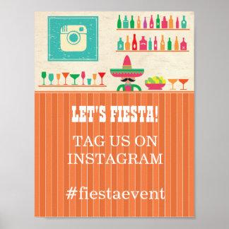 Fiesta Instagram Sign  Party Photo Wedding Event
