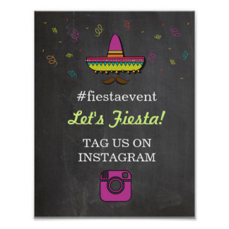 Fiesta Instagram Sign Photo Couple's Shower Party Poster