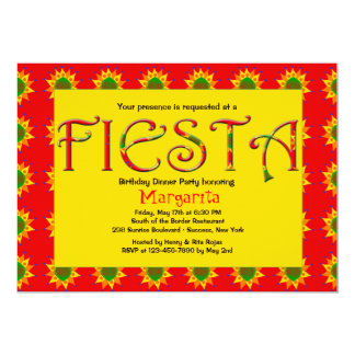 "Fiesta Invitation 5"" X 7"" Invitation Card"
