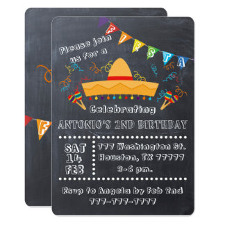 Fiesta Invitation, Fiesta Party, Fiesta Birthday Card