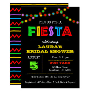 Fiesta Lights Shower Invitation