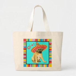 Fiesta Mastiff Large Tote Bag