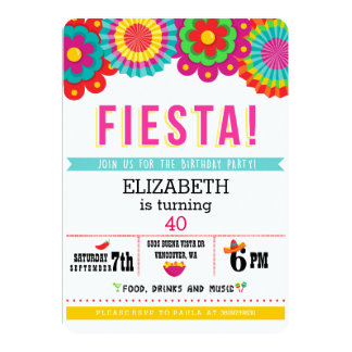 Fiesta Mexican Party Invitation