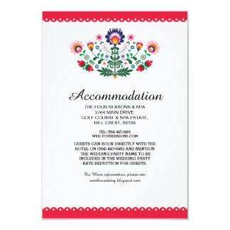 Fiesta Mexican Red Accommodation Wedding Cards