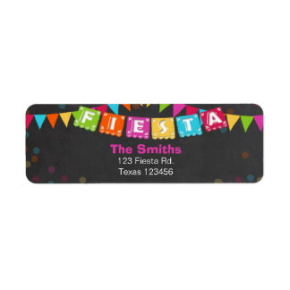 Fiesta Mexican Return Address Label