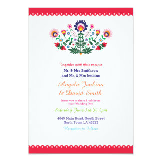 Fiesta Mexican Wedding Party Colorful Invitation