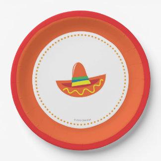 Fiesta Paper Plates- Sombrero Hat Paper Plate