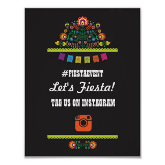 Fiesta Party Instagram Sign Photo Couple's Shower Poster