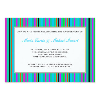 Fiesta Party Invitations | Mexican Stripes