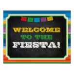 Fiesta Party Sign, Welcome Sign, Mexican Party Poster