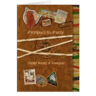 Fiesta Passport Invitation