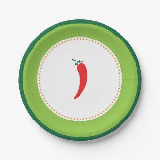 Fiesta Pepper Paper Plates