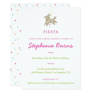Fiesta Piñata Fun Bridal Shower Invitations