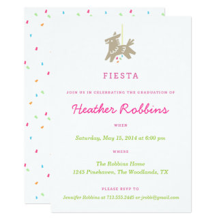 Fiesta Piñata Fun Graduation Party Invitations