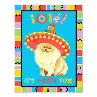 Fiesta Pomeranian Card