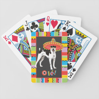 Fiesta Rat Terrier Bicycle Playing Cards