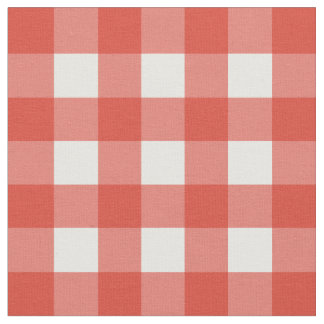 Fiesta Red & White Gingham Check Fabric