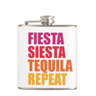 Fiesta, Siesta,Tequila Bachelorette Vacation Flask