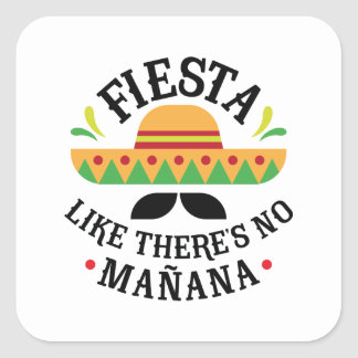 Fiesta Square Sticker