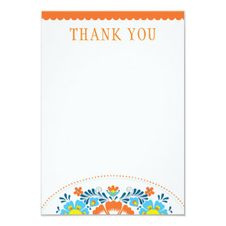Fiesta Thank You Note Card