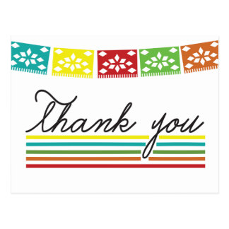 Fiesta Thank You Post Card