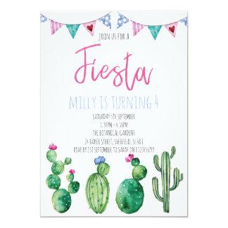 Fiesta themed birthday party invitation