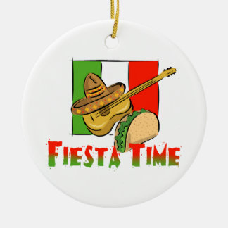 Fiesta Time Ceramic Ornament