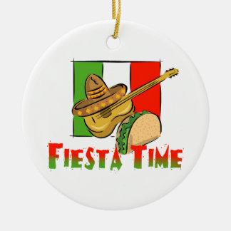 Fiesta Time Round Ceramic Ornament