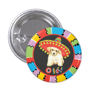 Fiesta Toy Poodle 1 Inch Round Button