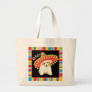 Fiesta Toy Poodle Large Tote Bag