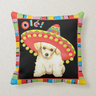 Fiesta Toy Poodle Throw Pillow