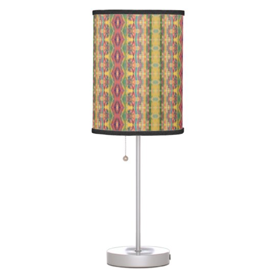 Fiesta Watercolor Stripes Table Lamp