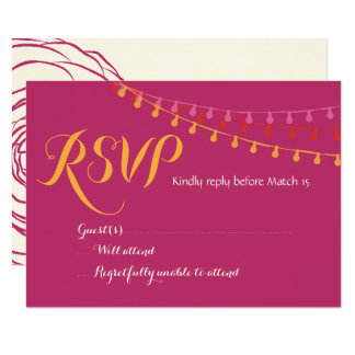 Fiesta Wedding Invitation Colorful Mexican RSVP