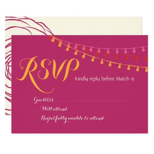 Fiesta Wedding Invitation Colourful Mexican RSVP
