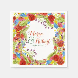 Fiesta Wedding Paper Napkin
