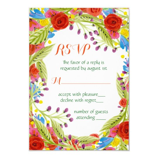 Fiesta Wedding RSVP Card