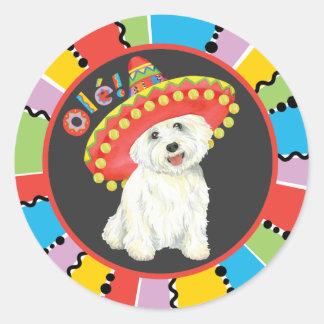 Fiesta Westie Round Sticker