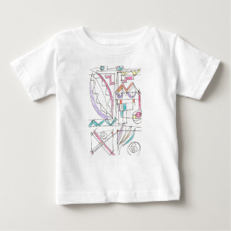 Fiesta-Whimsical Abstract Art Baby T-Shirt