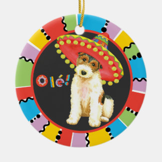 Fiesta Wire Fox Terrier Ceramic Ornament
