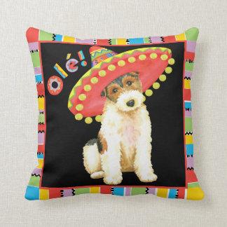 Fiesta Wire Fox Terrier Throw Pillow